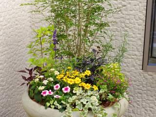 中庭のコンテナガーデン: Green Style Forestが手掛けた庭です。,モダン