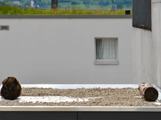 現代房屋設計點子、靈感 & 圖片 根據 design@garten - Alfred Hart - Design Gartenhaus und Balkonschraenke aus Augsburg 現代風
