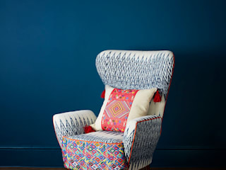 Caterina Ikat Wing Chair A Rum Fellow Living roomSofas & armchairs