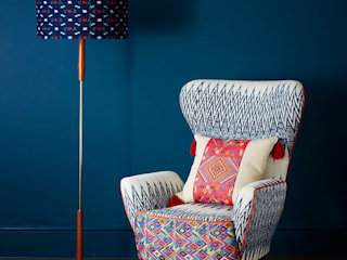 Caterina Ikat Wing Chair:   by A Rum Fellow