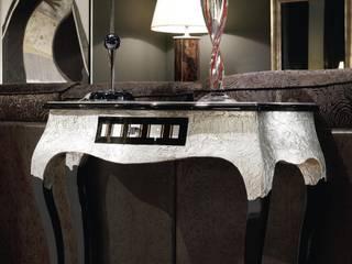 Consola Argenta 1 cajón: Vestíbulos, pasillos y escaleras de estilo  de Paco Escrivá Muebles