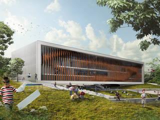 Crete Bioclimatic School:   by Kamvari Architects