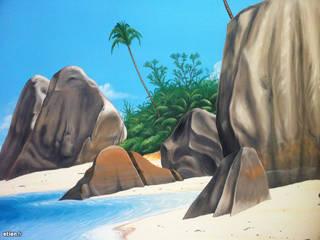 Fresque - Les Seychelles:  de style  par Étien'