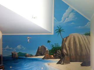 Fresque Seychelles:  de style  par Étien'