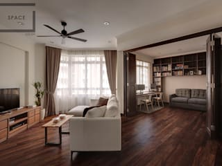 Living room by Space Atelier Pte Ltd