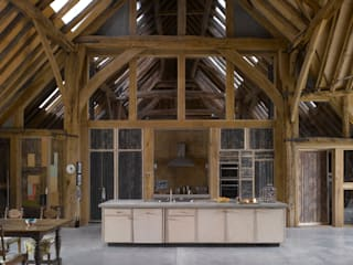 Feering Bury Farm Barn Cuisine originale par Hudson Architects Éclectique