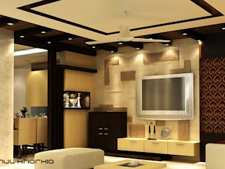 Living Area:   by Effects Decors & Interiors