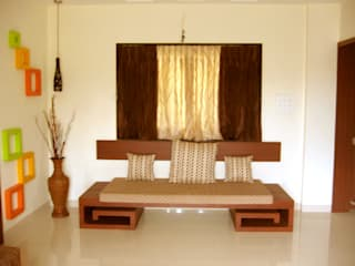 Indian sitting:  Living room by 4D The Fourth Dimension Interior Studio