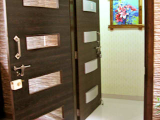 ENTERANCE DOOR WITH SAFETY DOOR:   by 4D The Fourth Dimension Interior Studio