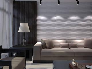 proyectos en general Salones de estilo moderno de paneles3deco Moderno