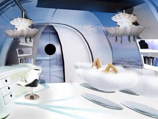 widok na wypoczynki oraz miejsce pracy: styl klasyczne, w kategorii Jachty i motorówki zaprojektowany przez izabela jaroszek