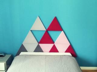 Triada w sypialni: styl , w kategorii Sypialnia zaprojektowany przez FLUFFO fabryka miękkich ścian