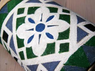 """Tekstylny """"Door-stop"""" ręcznie malowany w marokański wzór: styl , w kategorii  zaprojektowany przez WszystkoCoŁadne"""