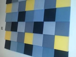Fluffo Cubic projekt by Fabryka Wnętrz-Sylwia : styl , w kategorii Salon zaprojektowany przez FLUFFO fabryka miękkich ścian