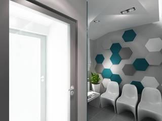 Gabinet lekarski - nowocześnie z Fluffo: styl , w kategorii Kliniki zaprojektowany przez FLUFFO fabryka miękkich ścian