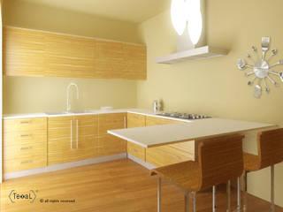 Cucina Minimalista appartamento privato: Cucina in stile  di TEXAL di Bernecoli Matteo