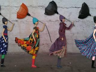 Design Handcrafted Girl Doll Lamp Floor Lamp Standard-Lamp Uplighter Puppet with Umbrella de Vintagist.com Escandinavo