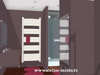 SDB monochrome par Atelier Inside Éclectique
