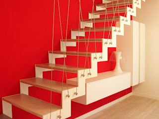 Modern Corridor, Hallway and Staircase by PIETRO BOLIS, architetto Modern
