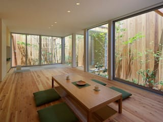 House of Nishimikuni Modern living room by arbol Modern