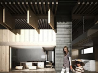 Jardines de estilo industrial de gOO Arquitectos Industrial