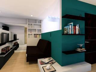 Salas multimedia de estilo moderno de defaus Moderno