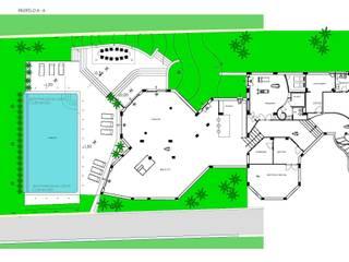 Villa T:  in stile  di 3c+t Capolei Cavalli architetti associati
