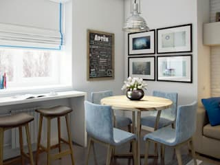 Scandinavian style dining room by Massimos / cтудия дизайна интерьера Scandinavian