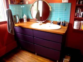 Salle de bains Salle de bain originale par la menuis' Éclectique