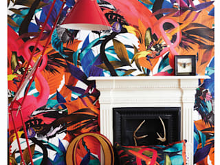 Andy Palmar Wall Mural :  Living room by KSWstudio