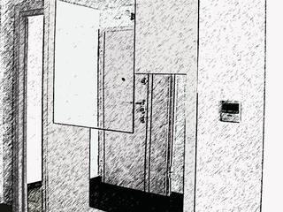 Enjoy the Silence: Ingresso & Corridoio in stile  di Architetto Alessia Bruno