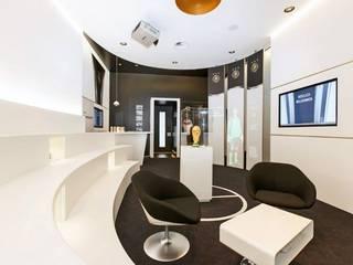 Das Runde muss ins Eckige:  Bürogebäude von Germerott Innenausbau GmbH & Co KG
