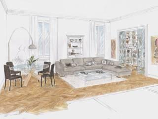 Abitazione privata Soggiorno classico di Alexandra Michelozzi architetto Classico