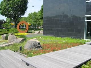 Edificios de oficinas de estilo moderno de +grün GmbH Moderno