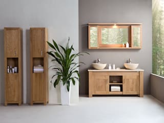 Stonearth - Oak Scandinavian style bathrooms by Stonearth Interiors Ltd Scandinavian