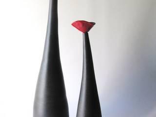Vase soliflore coquelicot par poterie Kohut Minimaliste