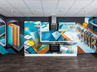 Graffiti Küche - Glasfronten individuell gestalten: modern  von HWD GmbH,Modern