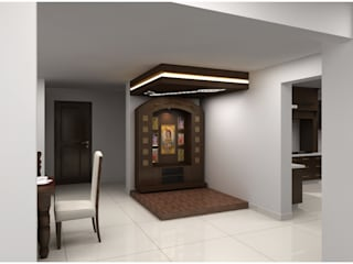 Pooja room Houses by homify