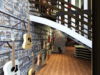Artisant Luthier: Espaces commerciaux de style  par ARtchidesign