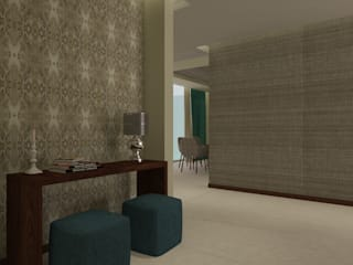 Modern Corridor, Hallway and Staircase by Beatriz Quiroz Interiorismo Modern