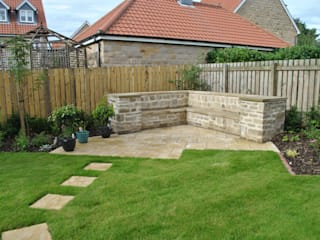 Yorkstone Garden Country style garden by Native Landscape Design Country