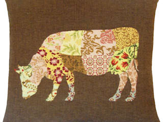 Patchwork Deers par FS Home Collections