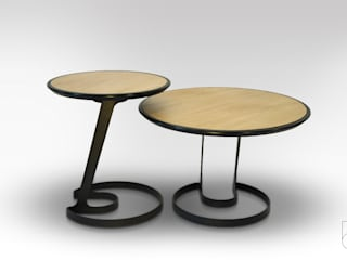 Table ORBIS: Salon de style  par Gauthier Poulain Design