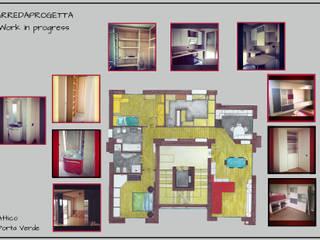 Casas de estilo  por Arreda Progetta di Alice Bambini