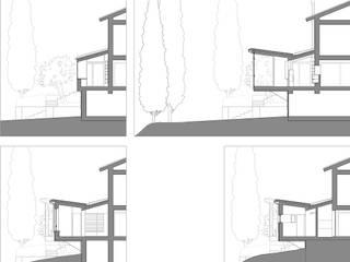 """CASA RICCARDO """"una lanterna tra i cipressi"""": Case in stile  di Orlando Lanza Architetto"""