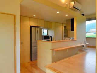 世羅の家 モダンな キッチン の 宮崎環境建築設計 モダン