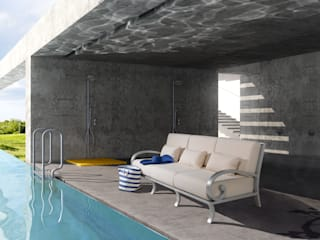 Projects Piscinas modernas por Oxley's Furniture Ltd Moderno
