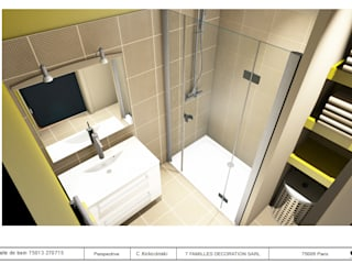 minimalistic Bathroom by cecile kokocinski
