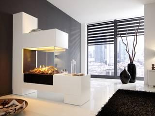 Elektrokamin Aspect SPlan-21 EL mit Elektroeinsatz Modul L: moderne Wohnzimmer von Kamin-Design GmbH & Co KG