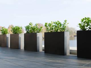 Pflanzkübel Fiberglas in Anthrazit: modern  von AE Trade Online,Modern